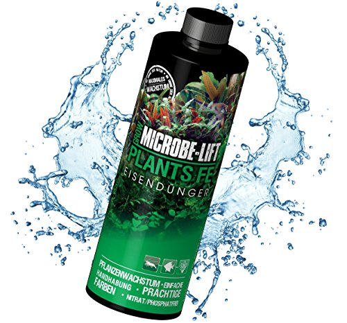 MICROBE-LIFT Plants FE – Flüssiger Eisen Dünger für Aquarium Pflanzen, hochkonzentriert, 473ml