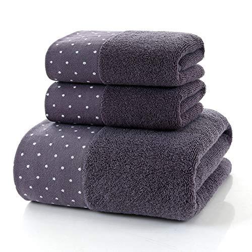 ESORST 100% algodón de 3 Piezas Hojas de Juego de baño Extra Grandes Toallas - Multicolor (Color : Gray, Size : 3-Piece Set)