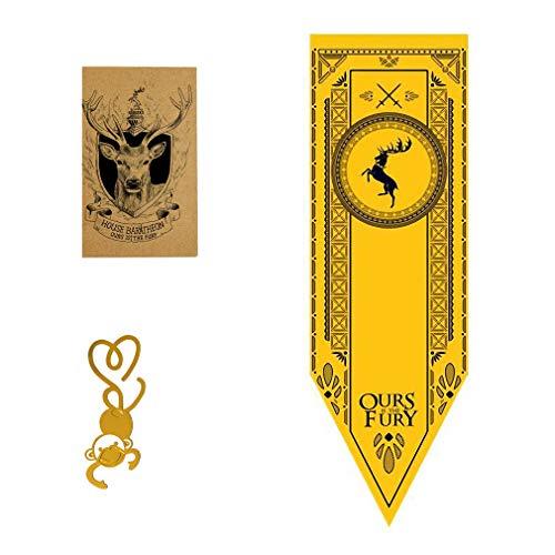 [150CM X 46CM] Gift for Game Banner Throne s Poster & Wand Banner & Baratheon Flagge für Bar House Party Dekoration