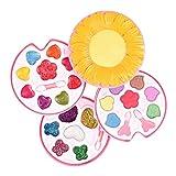 menolana Sunflower Shape Makeup Kit for Girl W/ Lipstick Eye Shadow Cosmetics Set