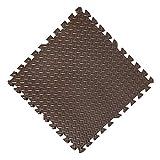 E.enjoy-Suelos de gimnasio Alfombrillas de espuma suave entrelazadas EVA Puzzle Tiles Set de piso protector - Protector de piso, protección de superficie |Tapete for ejercicios deportivos - Gimnasio F