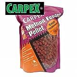 Carpex 0,75kg 8mm vorgelochte Method Feeder Pellets Hakenpellets Fish, Natur