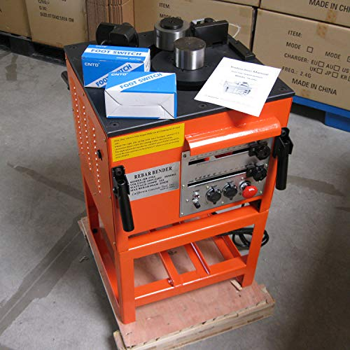 CCTI Electric Rebar Bender - Heavy Duty Bending Up to #8(1 inch/25 mm) Grade 60 Rebar(Model: RB-258A)