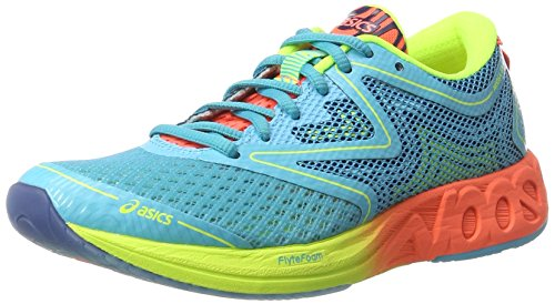 ASICS Damen Noosa FF Laufschuhe, Mehrfarbig (Aquarium/Flash Coral/Safety Yellow), 39.5 EU
