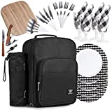 Plush Picnic-Family Picnic Backpack for Quality Family Time, Easy to Use Portable Picnic Backpack for 4, Picnic Basket Set, Durable Picnic Set for 4, All Contents Included (Black)