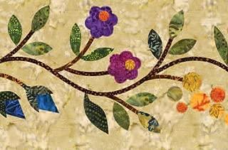 Laundry Basket Quilts, Silhouettes - Spring Bouquet Block 10 - Appliques