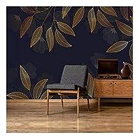 壁画の壁紙黄金の葉の抽象的な壁の絵の壁紙リビングルームの寝室の背景の壁紙