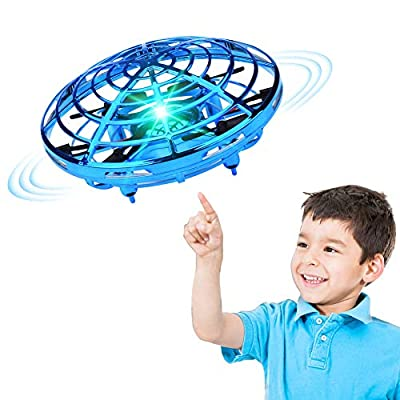 XINHOME Hand Operated Drone for Kids Adults - Hands Free Mini Drones for Kids, Easy Indoor Hand Drone, Flying Ball Drone Toys for Boys and Girls Gift (Blue) by XINHOME