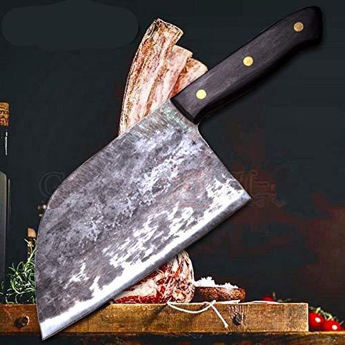 M&QSPS Handgemachtes Geschmiedetes Chef-Messer-Clad Stahl Geschmiedet Chinese Cleaver Professionelle KüChenmesser Fleisch GemüSe Slicing Schneidewerkzeug