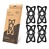 Motorcycle Phone Mount Tether 4-Pack, Premium Grade Rubber /Security/Fall Prevention, for Bicycle Bike, Motorcycle, Handlebar, Silicone Cell Phone Holder Band
