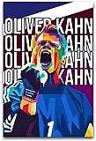 ZRRTTG Leinwand Druck Poster 60x90cm Oliver Kahn In WPAP
