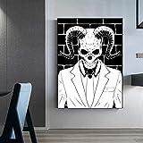 Schädel Skelett Poster Moderne abstrakte Wand Bilder Anime