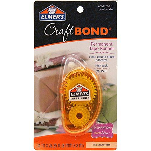 Elmer's CraftBond Tape Runner, Permanent, 26.25 Feet, Dispenser, Clear