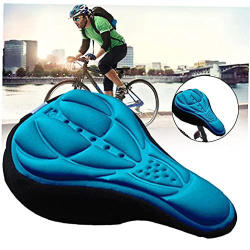 sevenjuly Sillín De Bicicleta De Espuma Suave Cómodo Montar De La Bici MTB De Una Silla con Amortiguador De La Silla De Montar De Ciclo De Accesorios Azul