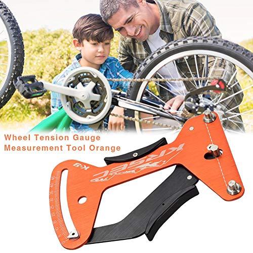 Ganmaov Orange Speichenspannungsmesser für Fahrrad, Aluminiumlegierung 6061-T6 Rad-Spannungsmessgerät Messwerkzeug