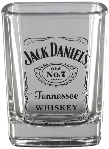 Jack Daniel's Licensed Barware Label Logo Shot Glass