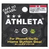 ATHLETA(アスレタ) iPhone5 5s/5se 5c ホームボタンシール ブラック ホワイト グリーン