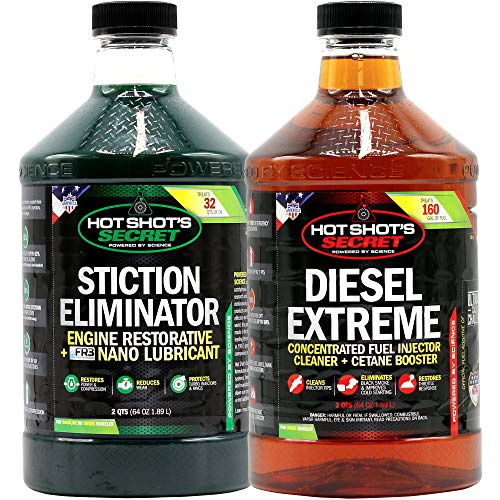 Hot Shot's Secret Diesel Duo, 2qt STICTION Eliminator and 2qt Diesel Extreme