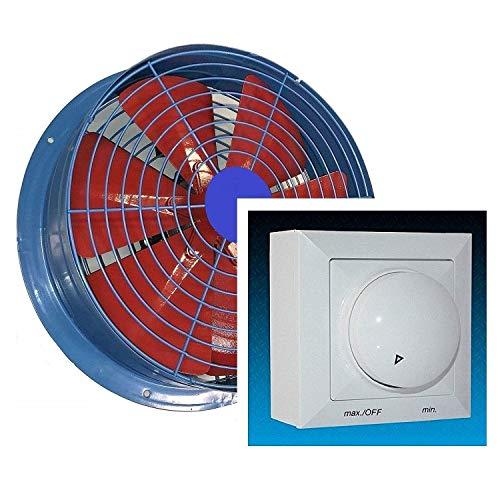 400mm Ventilador industrial con 500W REGULADOR de Velocidad, Ventilación Metal Extractores de Aire Ventiladores axiales mura Pared extractor aspiracion 40 cm Helicoidal