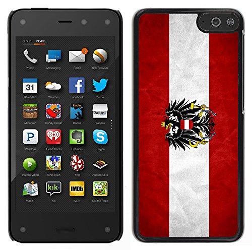 Graphic4You Bandera Austriaca Austria Vintage Grunge Diseño Carcasa Funda Rigida para Amazon Fire Phone