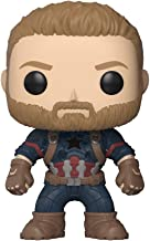 Funko Pop- Pop Marvel: Avengers: Infinity War - Captain America Figura De Vinilo, Multicolor, Talla Única (26466)