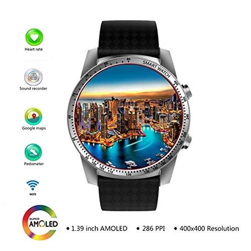 HFJ&YIE&H 3G Smartwatch Telefon Android 5.1 MTK6580 Quad Core 8 GB Rom Herzfrequenz-Messgerät Schrittzähler GPS Anti-verlorene intelligente Uhr W-LAN Zelle Bluetooth Kamera,B