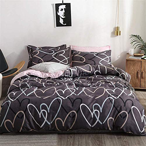 zzkds Duvet cover, bedding double single bed and set of 4 pieces of microfiber breathable print girl boy easy care200*230cm