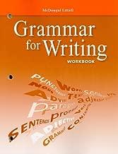 McDougal Littell Literature: Grammar for Writing Workbook Grade 9