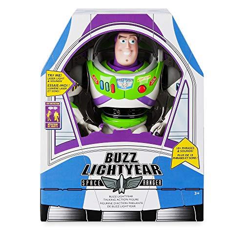 Disney Tienda Oficial Toy Story Buzz Lightyear Deluxe Muñeca de Juguete con Figura conversadora