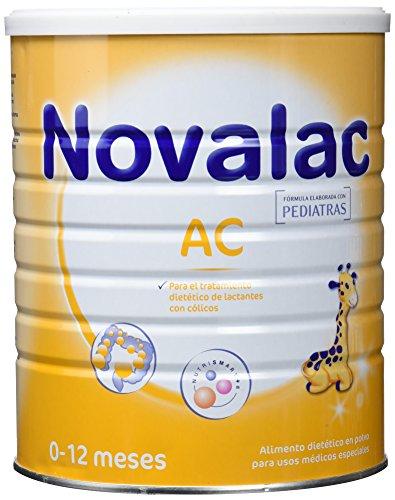 NOVALAC AC - Leche infantil formulada especialmente para bebés de 0 a 12 meses, lactantes con cólicos. 800G