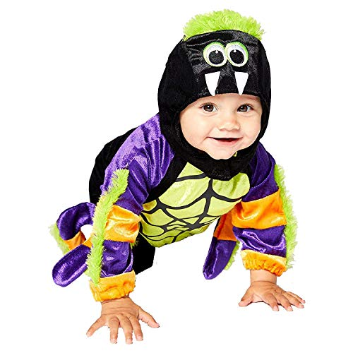 Child Toddlers Little Spooky Spider Costume Creepy Crawly Halloween