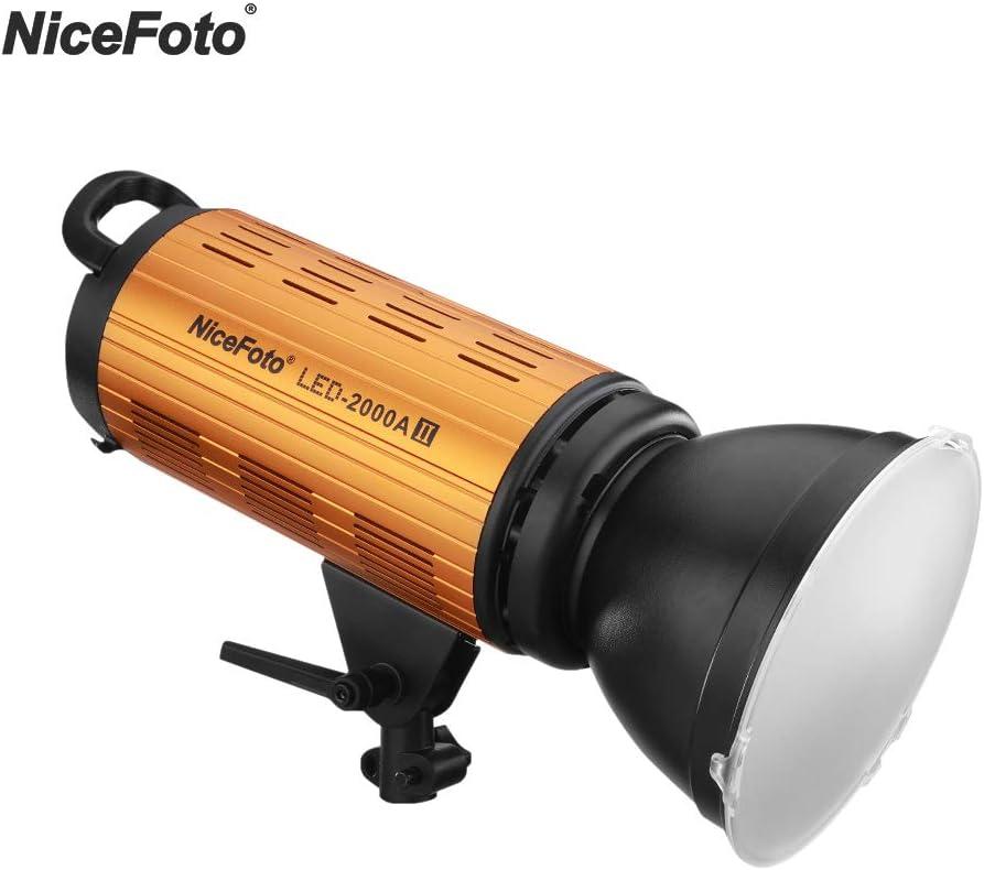 NiceFoto LED-2000A II LED Video Light 2000A 200W 3200-6500K+LCD Display APP Control for Studio Portrait LED-2000AII