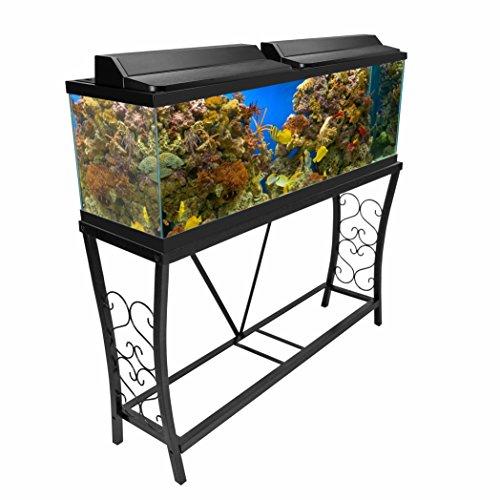 Aquatic Fundamentals AMZ-102551 Aquarium Stand 55 Gallon Black
