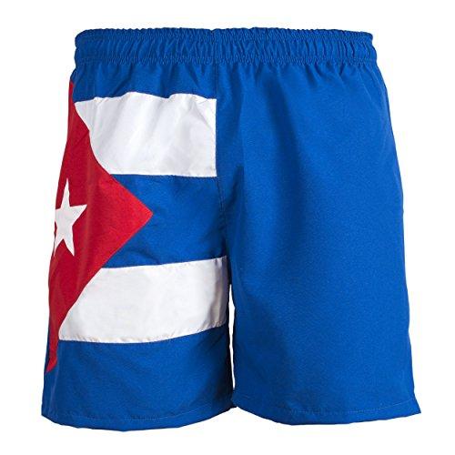 Cuba Drapeau National Hommes Croisière Swim Trunk Sport Bermuda Plage Pantalons Pantalons - L