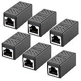 6Pack Adaptador RJ45 para Cable de Red Ethernet Cat5/CAT6 LAN RJ45 Acoplador...