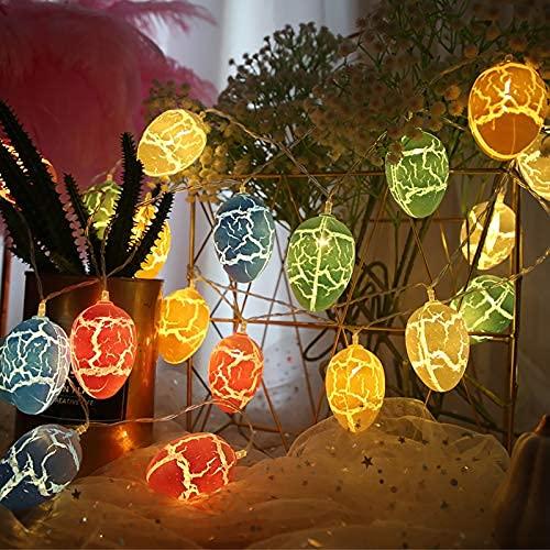 Luces de cuerda de decoración de huevos de Pascua, 10 LED con pilas de decoración de Pascua lámpara de hada, hodecorative interior al aire libre..