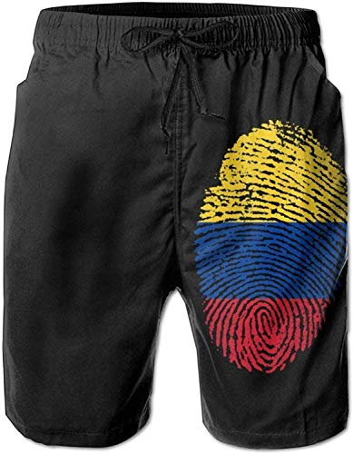 GYYbling Shorts de baño para Hombre Shorts de baño de Secado rápido Colombia Bañadores de ventilación súper Ligeros Pantalones de Playa