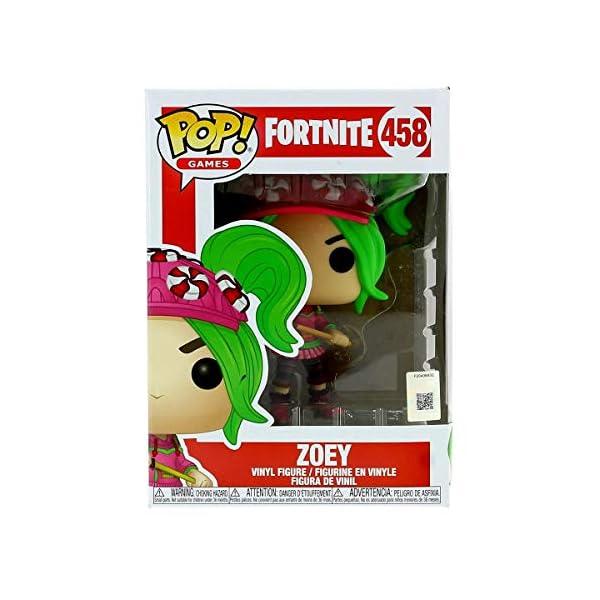 Funko Pop! Fortnite 458 Zoey Vinyl Figure, Multicolor, Estándar 4