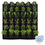HilarityMax 36 Pocket Vertical Planter with Gloves and Guide for Indoor and Outdoor Gardening,...