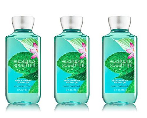 Bath & Body Works Eucalyptus Spearmint Shower Gel 3 Pack 10oz (295ml) Each