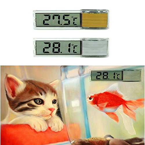 Hrph LCD 3D Thermomètre Aquarium Electronique Numérique Multifunctionnel Mesure de Température Fish Tank Temp Compteur