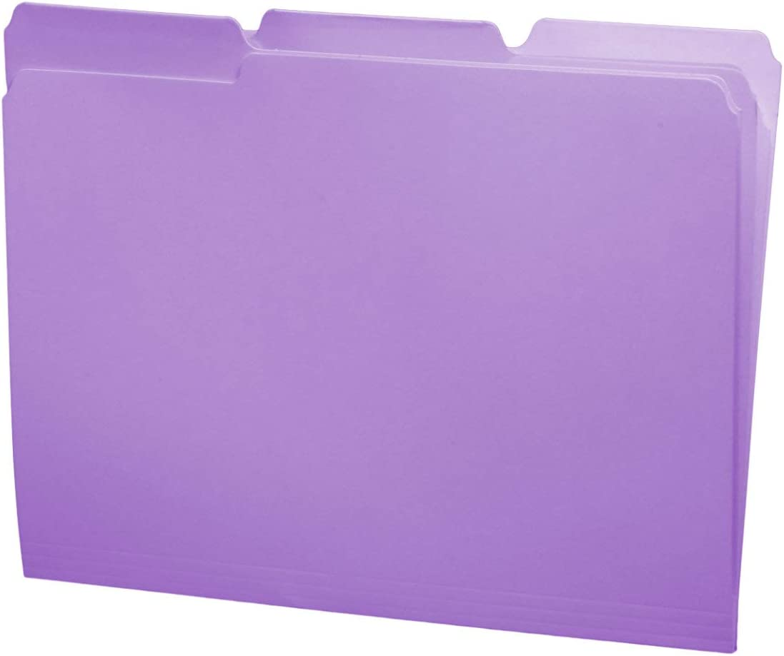 Lavender Color File Rapid rise Folders 1 3 Letter Top San Diego Mall Cut Perfe Size Tab