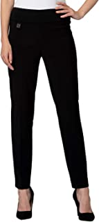 Joseph Ribkoff Ankle Length Wide Waistband Tailored Pant Zipperless - Style 144092 White
