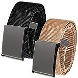 Cinturón de golf para hombre en peltre pulido 1.5 hebilla superior con cinturón de lona - Multi color - XXX-Large 62-70