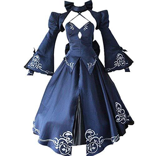 Cosplay Kostüm Halloween Maskerade Spiel Schicksal/Aufenthalt Nacht Arutoria Pendoragon Lolita Gothic Abendkleid Niedlicher Rock Anzug für Kostüm Hohe Qualität