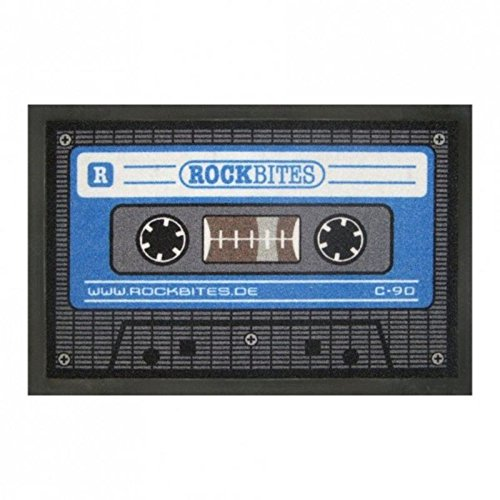 Cassette Paillasson en Bleu – Tape Paillasson antidérapant Tapis Paillasson Appartement Porte
