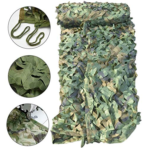WWJQ Green Camo Net, Oxford Fabric Camouflage Net Military Hide Netting for Kids Den Camouflage Hunting Shooting Camping Car, Available In 2m, 3m, 5m, 8m