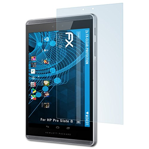 atFolix Schutzfolie kompatibel mit HP Pro Slate 8 Folie, ultraklare FX Bildschirmschutzfolie (2X)