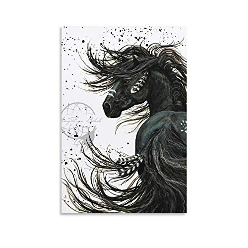Native American War Horse Canvas Art Poster and Wall Art Picture Print Modern Family Bedroom Decor Posters 12x18inch(30x45cm)