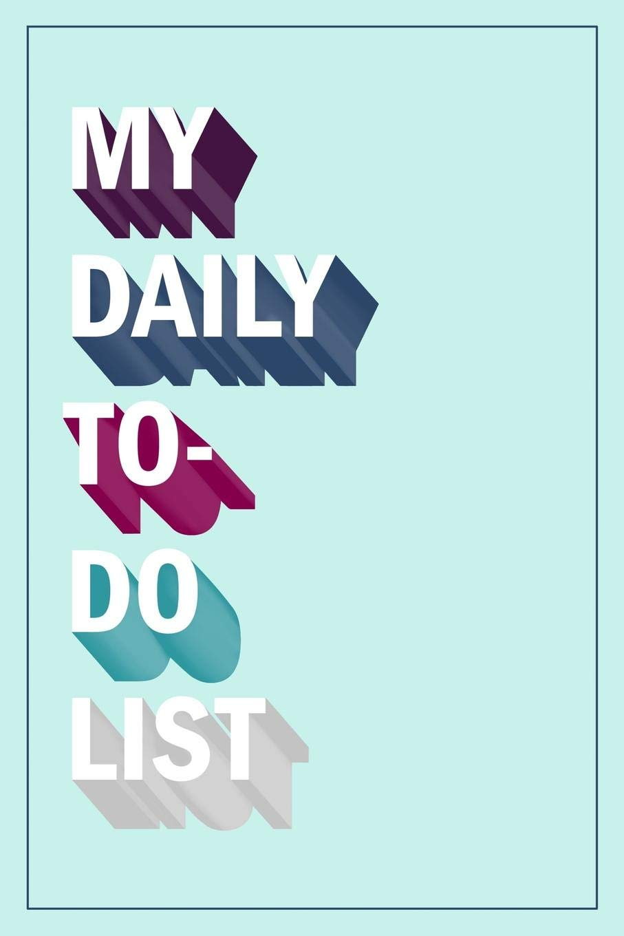 My Daily To-Do List: To Do List Notebook & Dot Grid Matrix: Mint Retro Lettering 0243